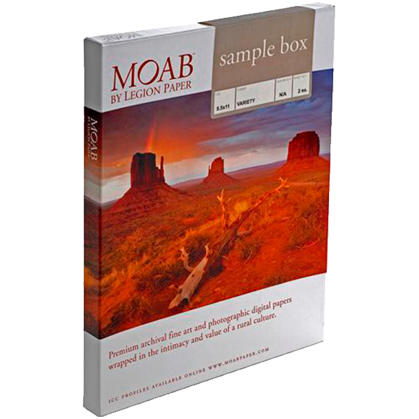 Papel Fine Art Moab Sample Box Carta (8.5 x 11)