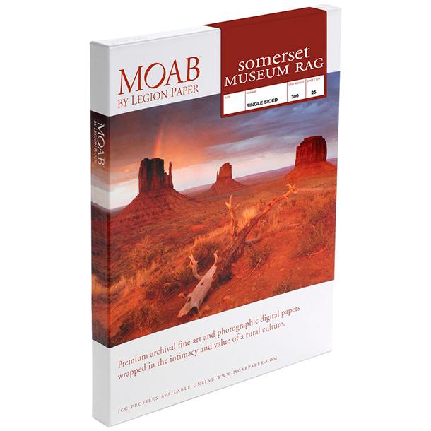 Papel Fine Art Moab Somerset Museum Rag A3+ (13 x 19) 25 Hojas