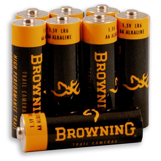 Pilas Alcalinas AA Browning 8 unidades