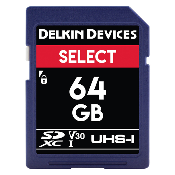 Tarjeta Memoria Delkin Devices 64GB SDXC Select 660x UHS-I