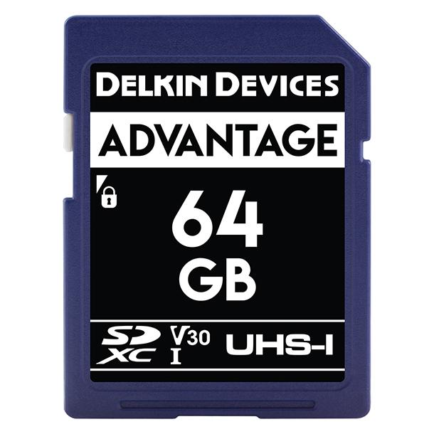 Tarjeta Memoria Delkin Devices 64GB SDHC Advantage 660x UHS-I