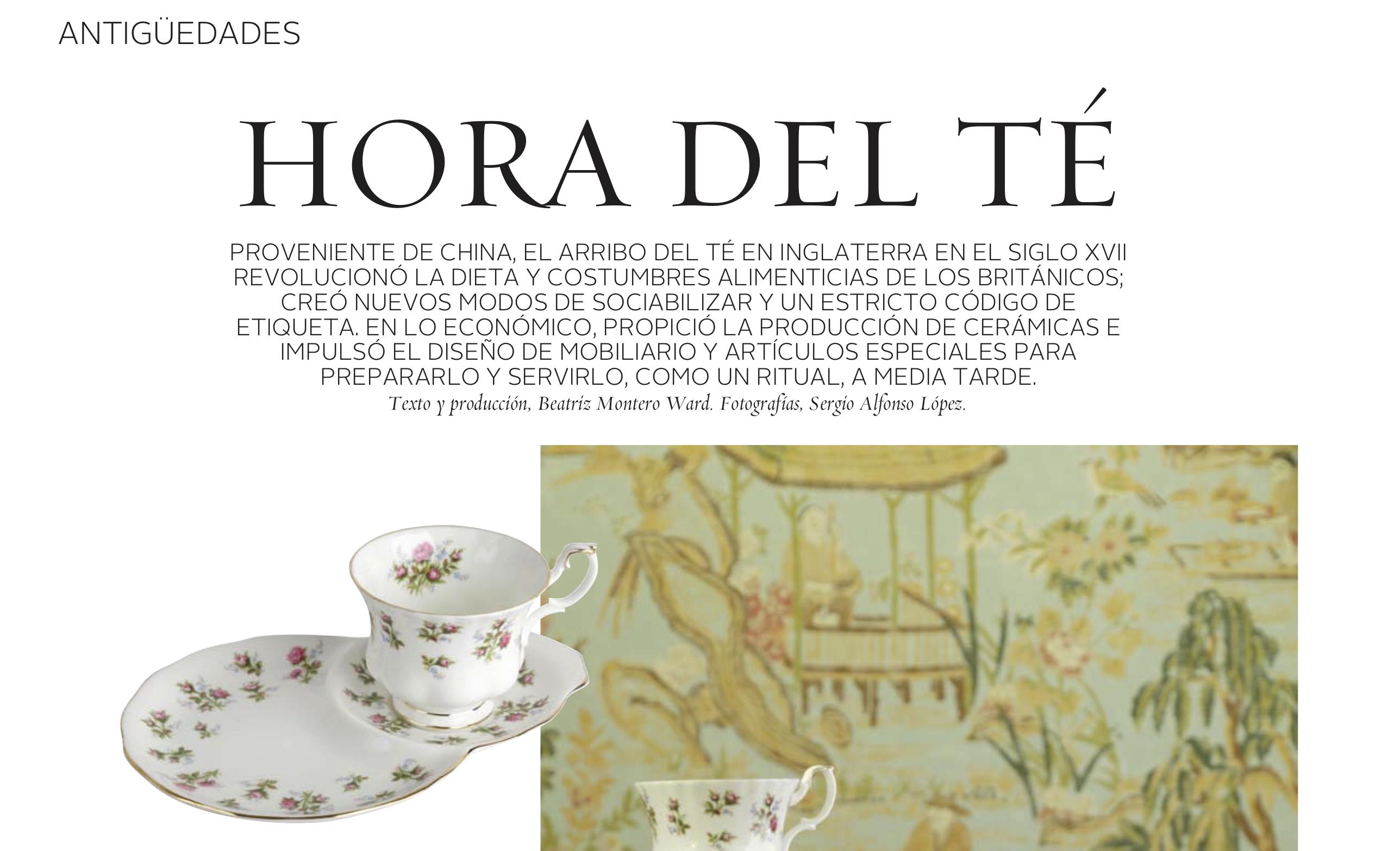 La hora del té - artículo en VD, El Mercurio, 23 de Marzo 2019