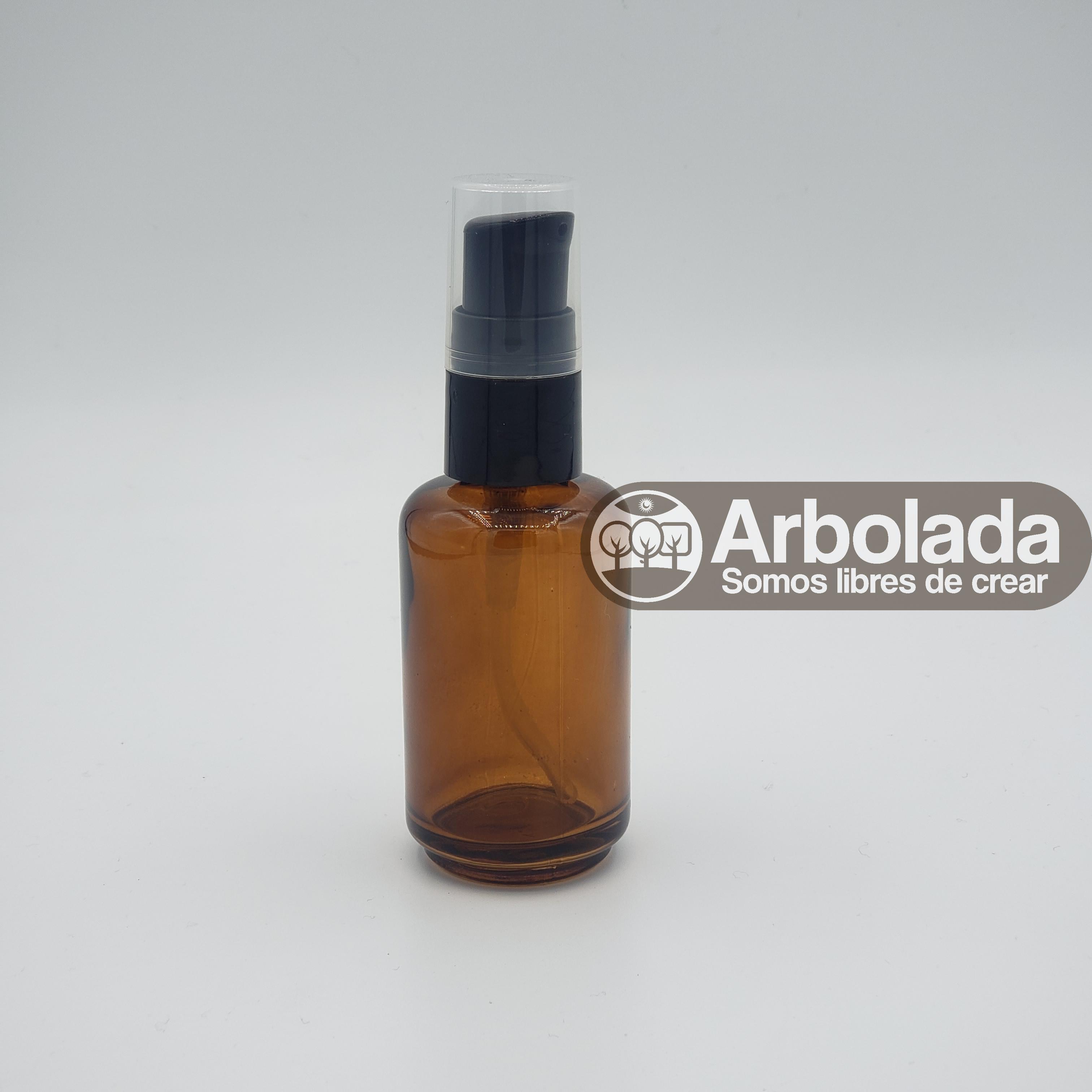 Envase Vidrio 30ml ámbar - válvula negra Florencia