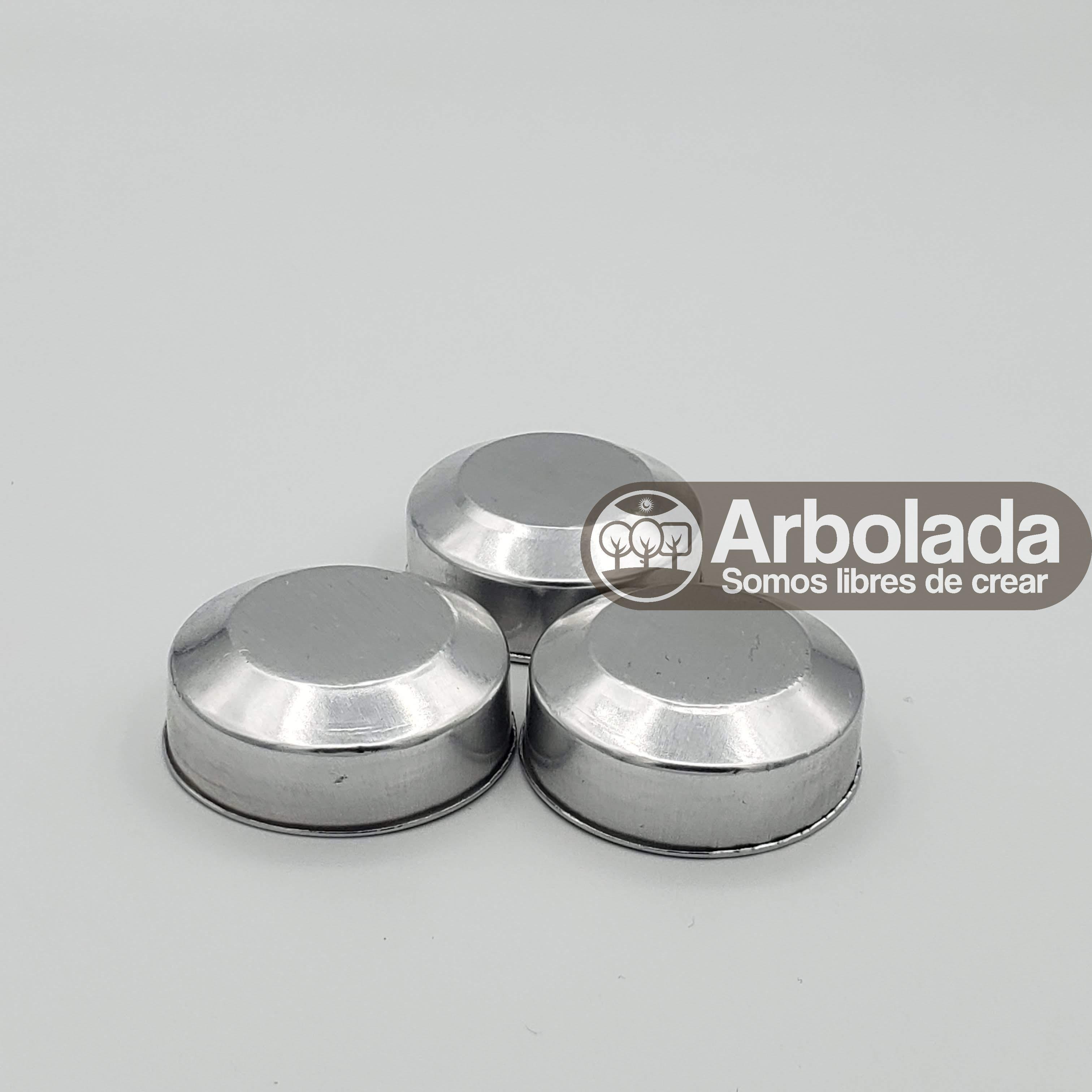 Set de portavela de aluminio (10 unidades)