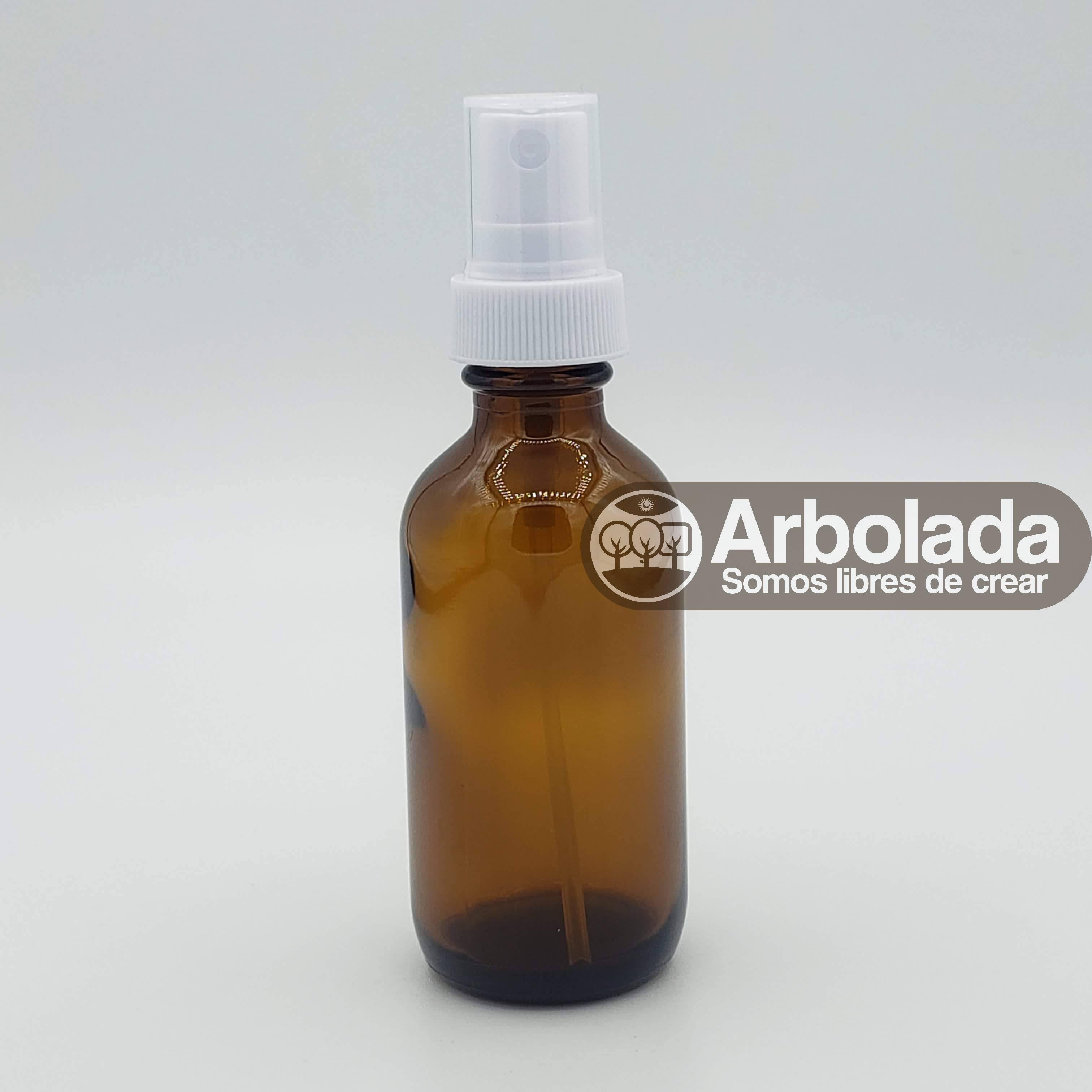 Botella 60ml Vidrio Ambar con Atomizador