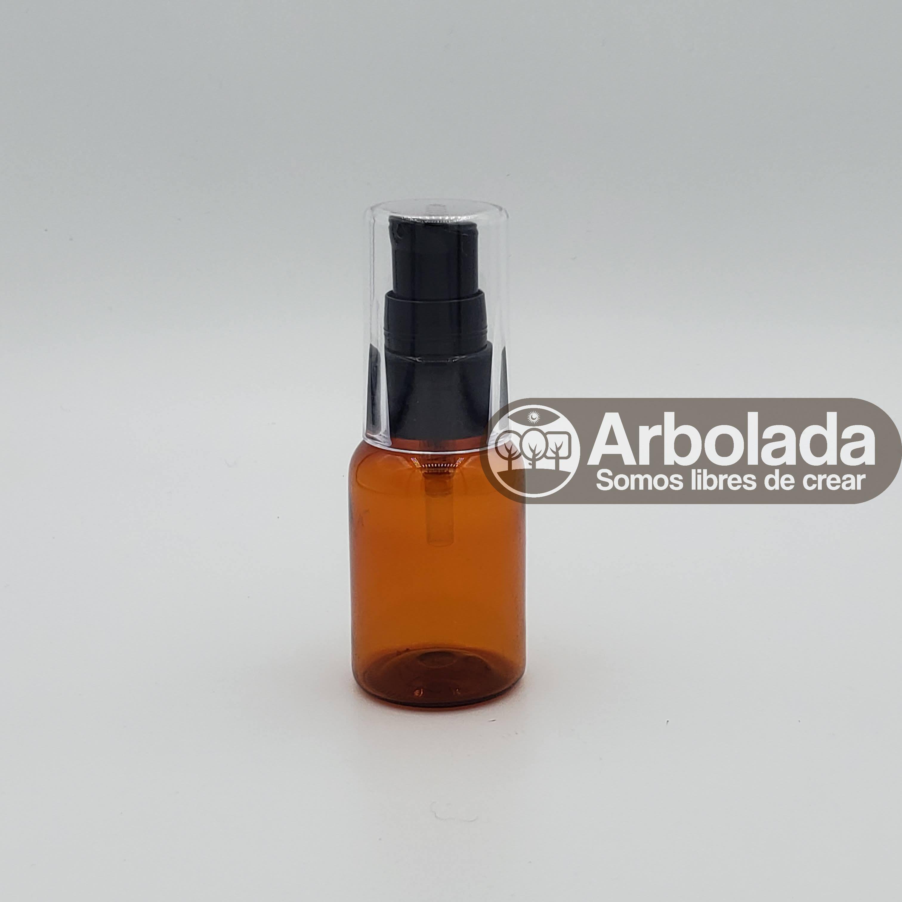 Botella PET 35ml Ámbar con válvula