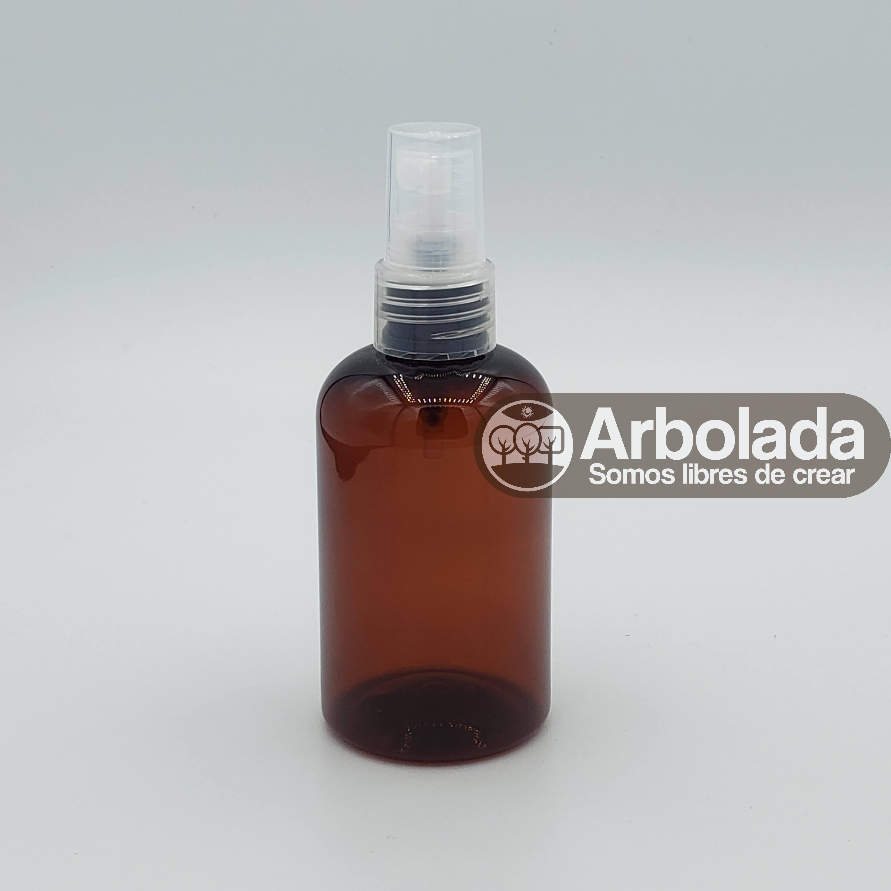 Botella PET 100ml Barril Ámbar Spray
