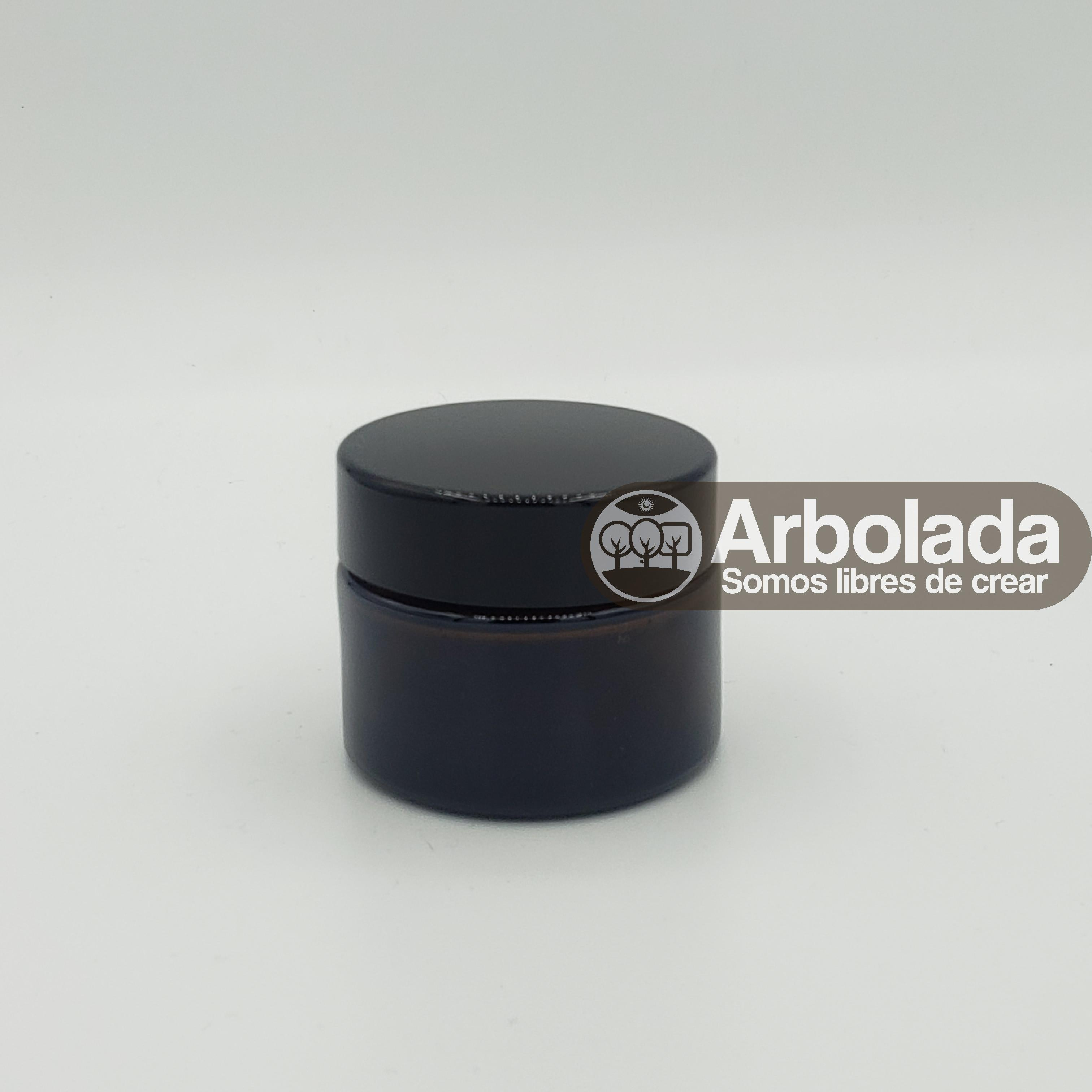 Envase 50ml vidrio negro/ámbar
