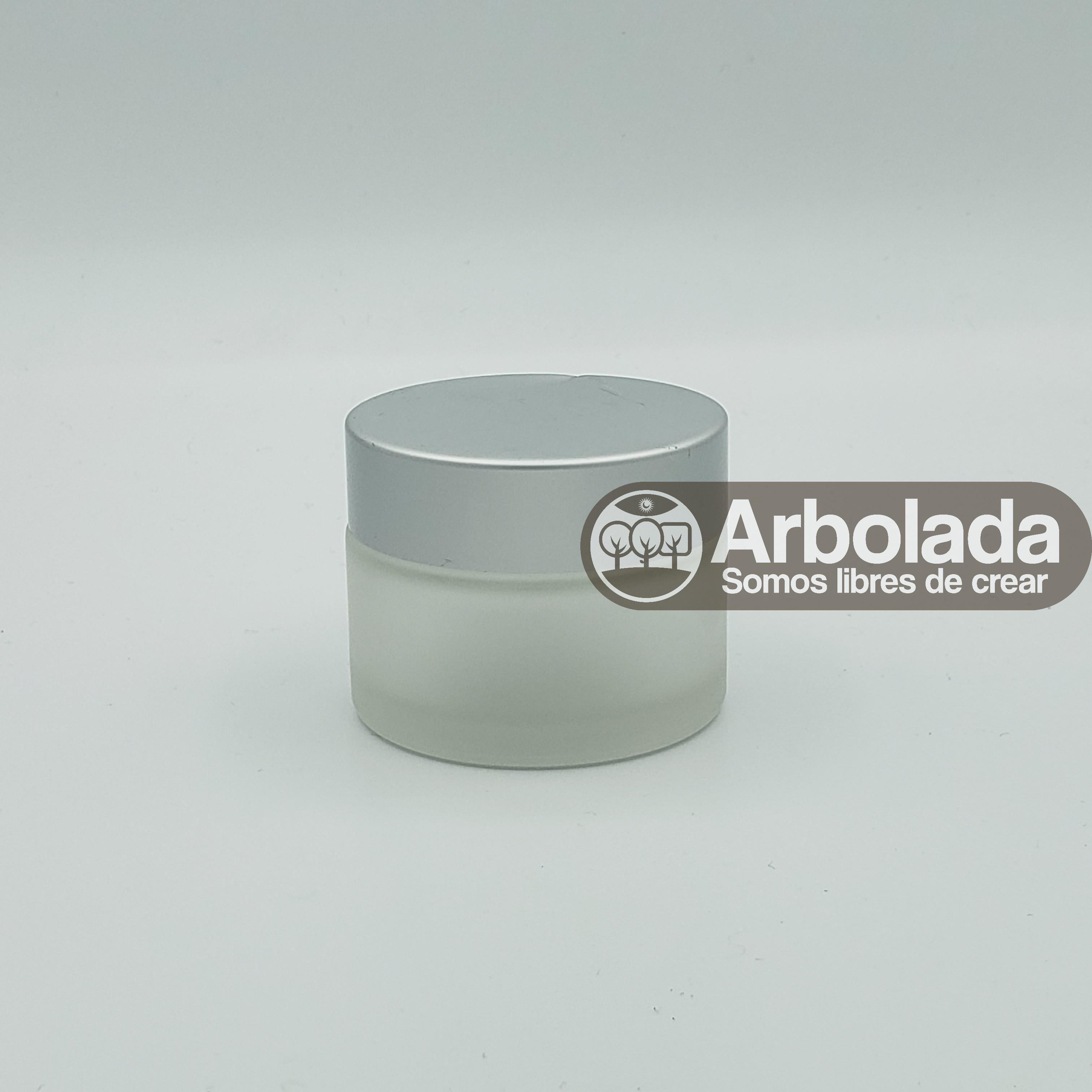 Envase vidrio 50ml plateado empavonado