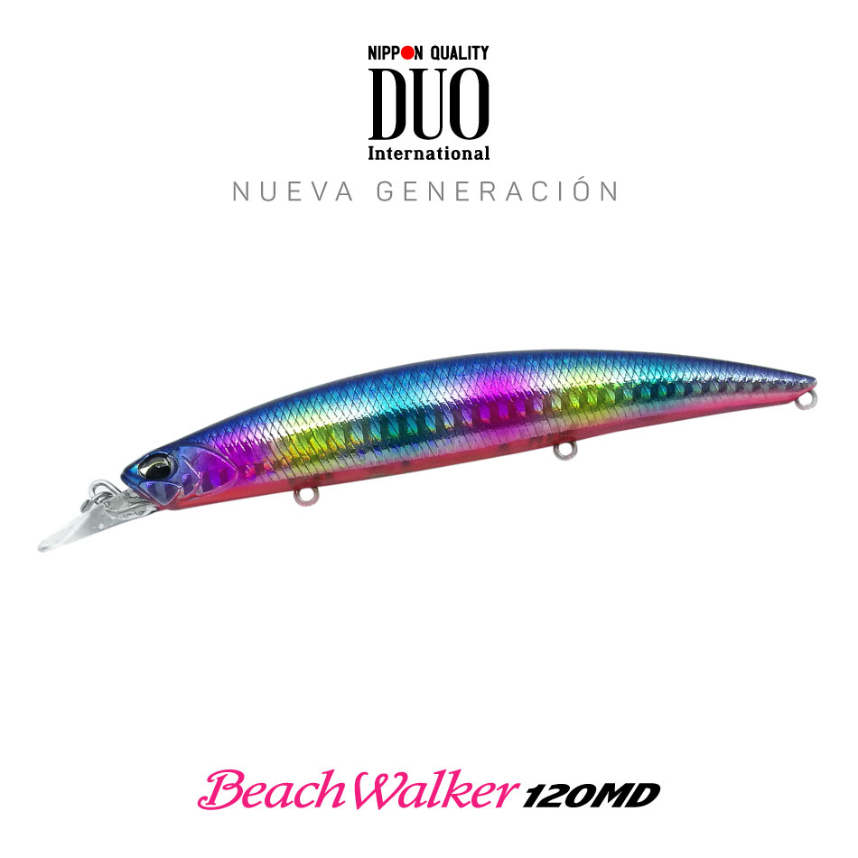 Señuelo DUO beach walker 120MD blue Black candy