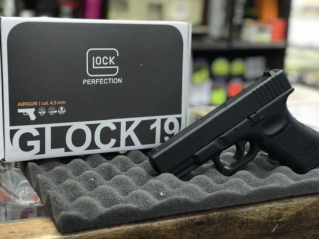 Pistola umarex glock 19 cal 4,5 bbs co2