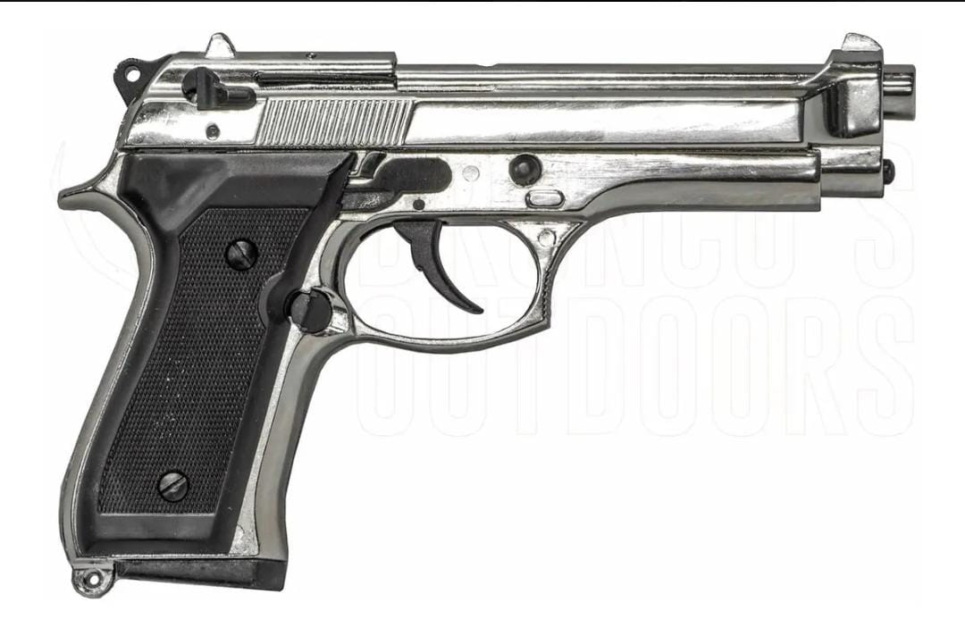 Pistola Bruni mod. 92 cal 9 mm nickel