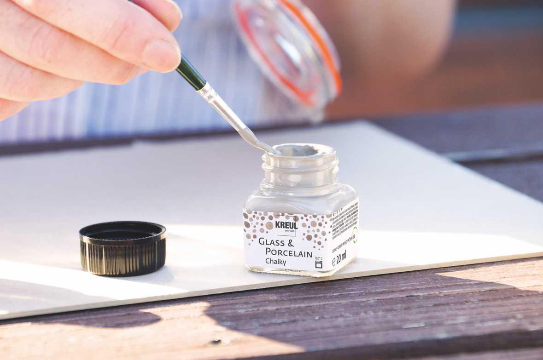 Pintura para porcelana y vidrio