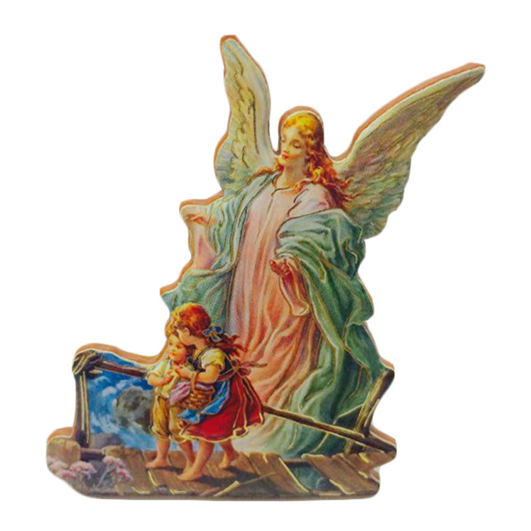 Íman Anjo da Guarda em madeira