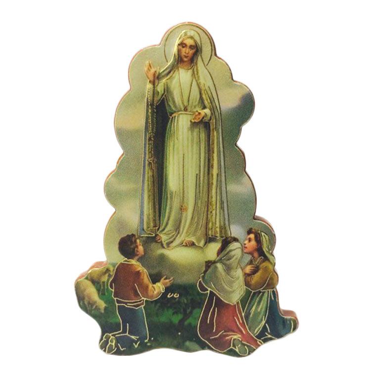 Íman de madeira Aparição de Nossa Senhora