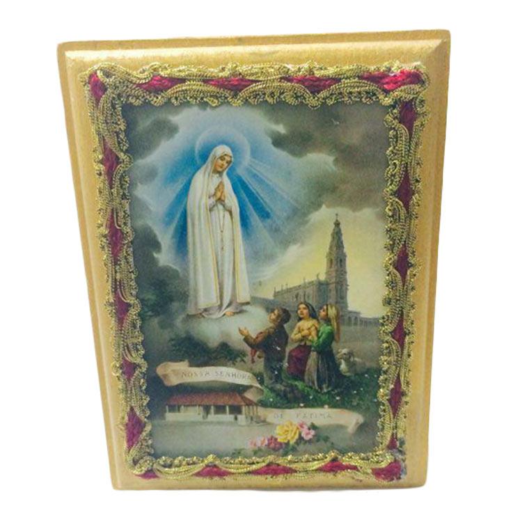 Placa com imagem Aparição de Nossa Senhora