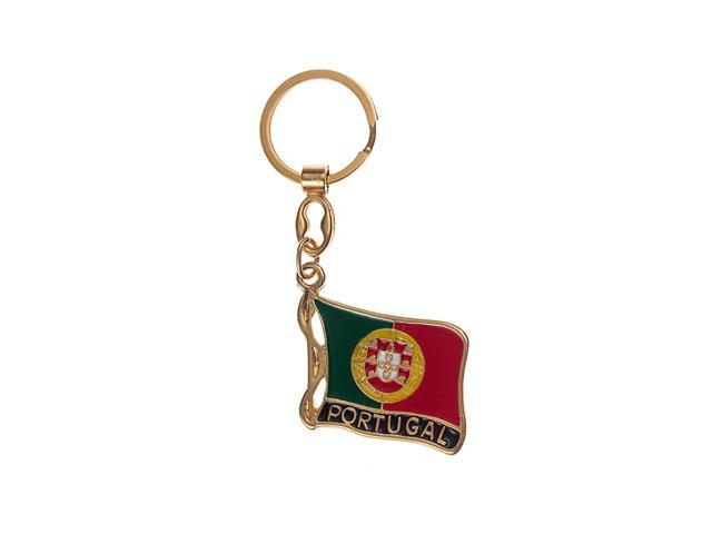 Chaveiro com bandeira de Portugal