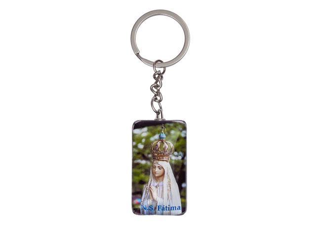 Chaveiro com imagem de Nossa Senhora de Fátima
