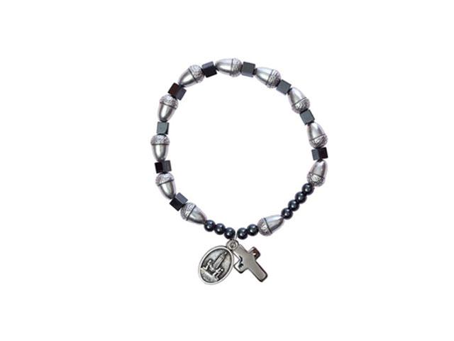 Hematite bracelet and acorns