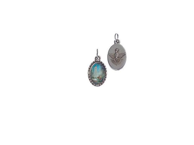 Medalha Oval Aparição Colorida com Pomba da Paz