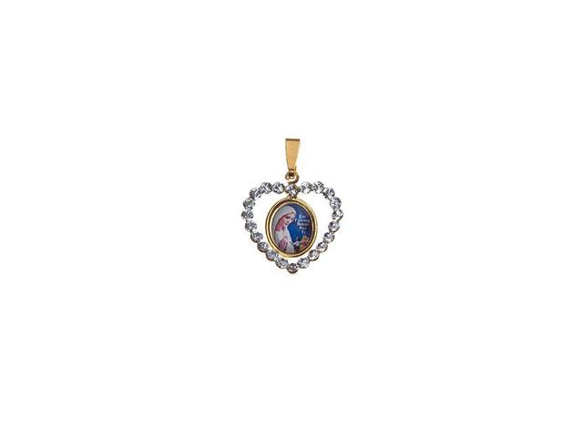 Medalha De Fátima Coração Com Pedras