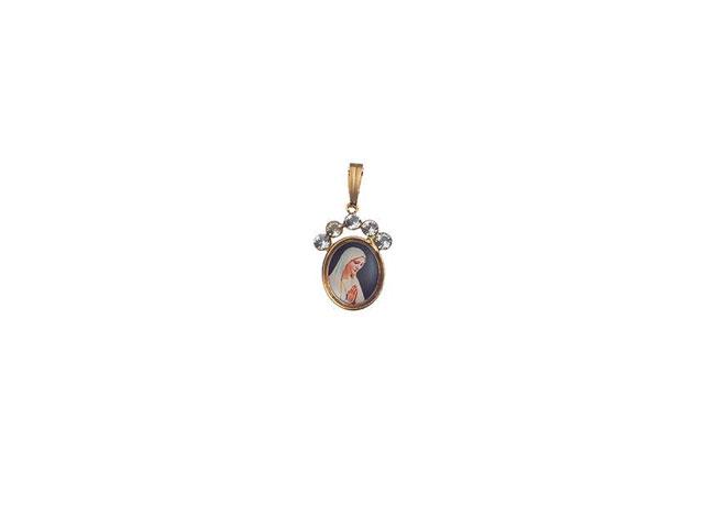 Medalha Oval 5 Pedras