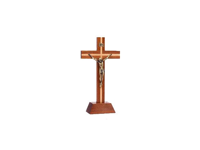 Crucifixo Pousar Madeira duas cores