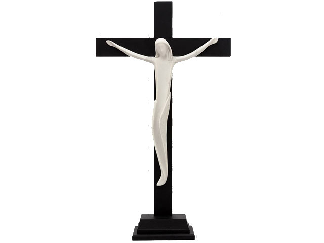 Cristo Porcelana Com Cruz e Base
