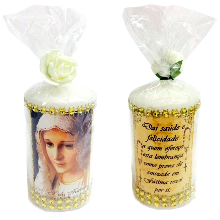Vela decorativa Nossa Senhora de Fátima