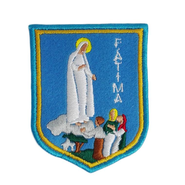 Emblema bordado de Aparição de Fátima