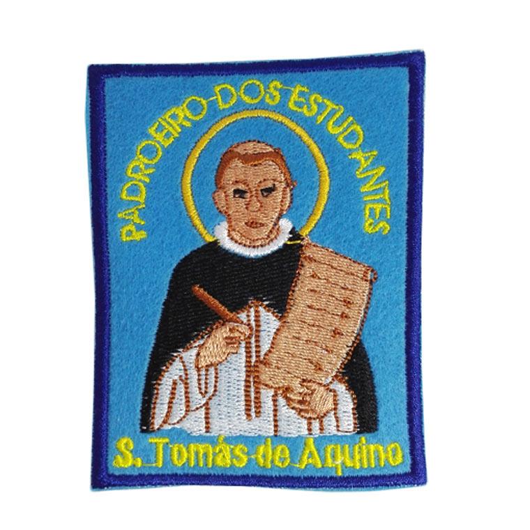 Emblema bordado de padroeiro dos estudantes