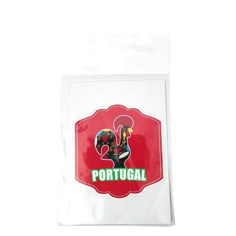 Adesivo com galo de Portugal