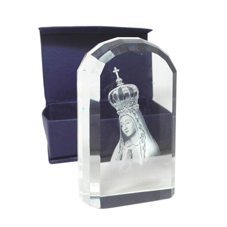 Cristal com imagem de Nossa Senhora