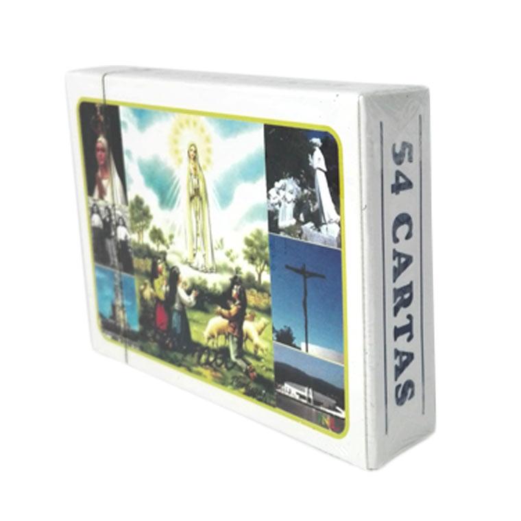 Baralho de cartas com imagens de Fátima