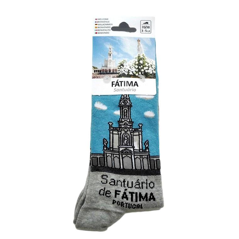 Peúga com Santuário de Fátima