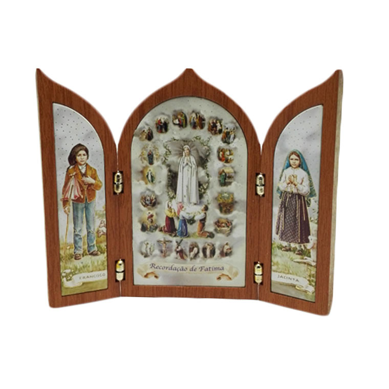 Tríptico com Santo Francisco e Santa Jacinta
