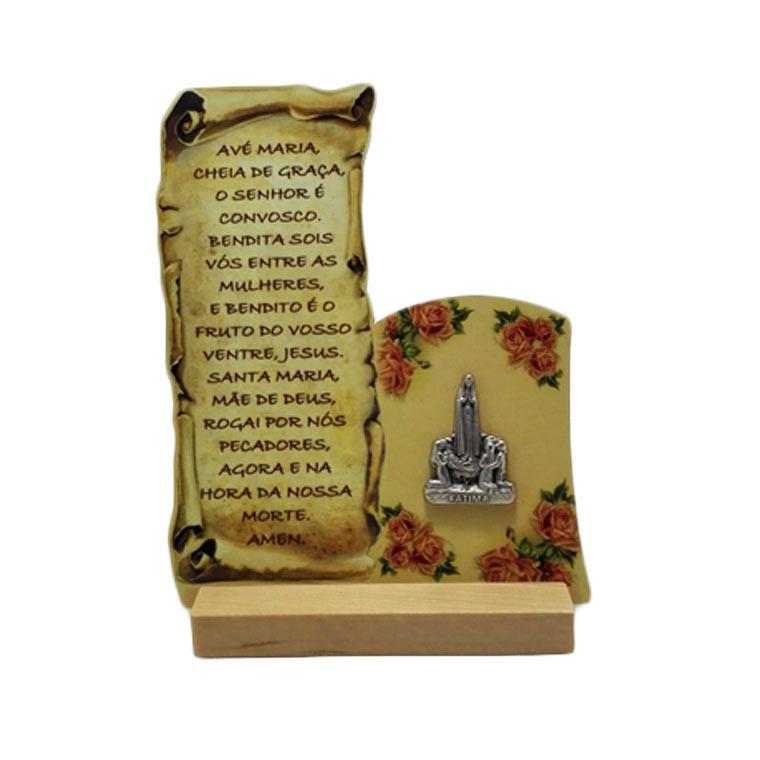 Placa religiosa com oração