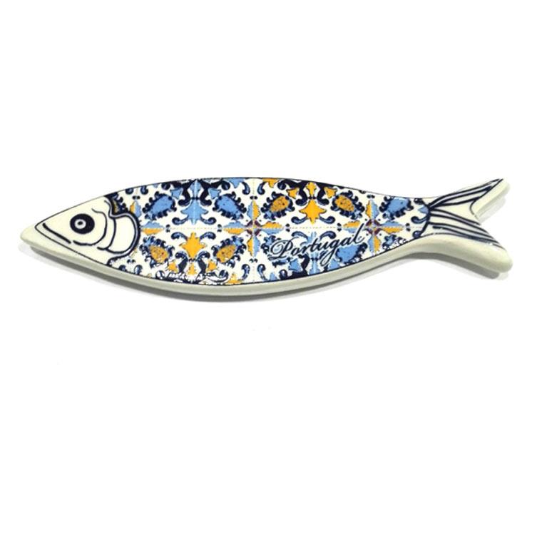Íman azulejo em forma de Sardinha