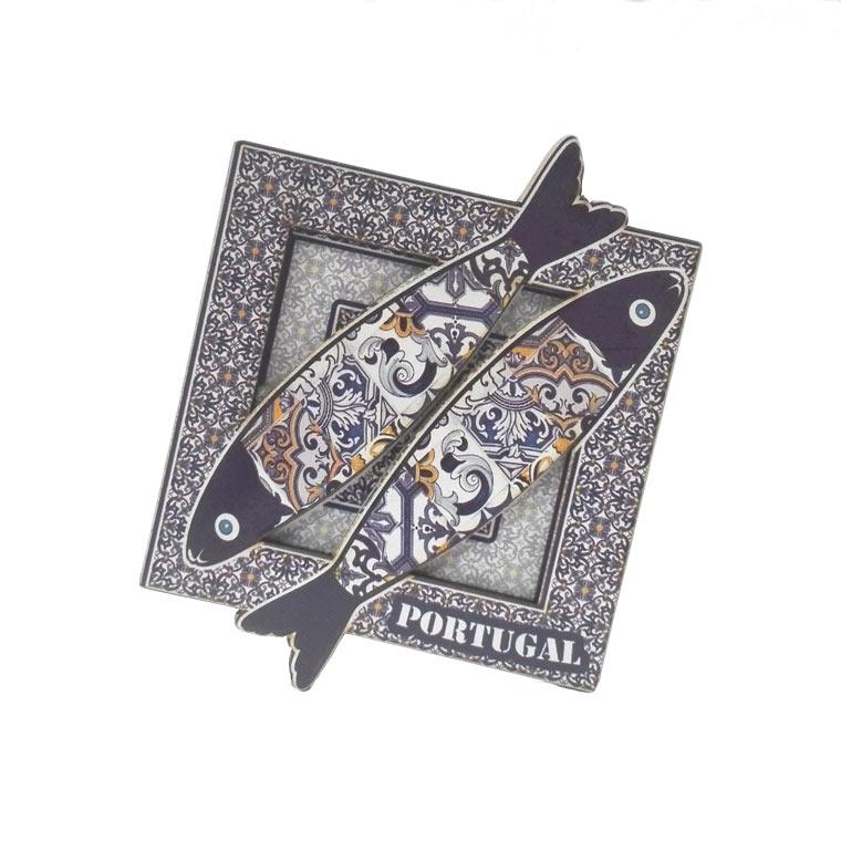 Íman com sardinhas portuguesas