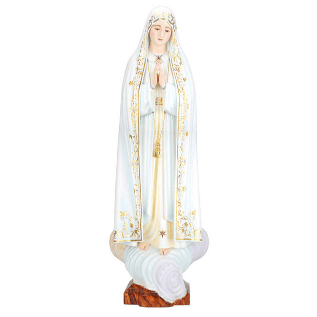 Nossa Senhora de Fátima - madeira 30 cm
