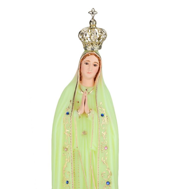 Imagem de Nossa Senhora de Fátima fluorescente 55 cm