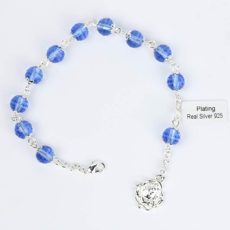 Pulseira de Cristal Azul