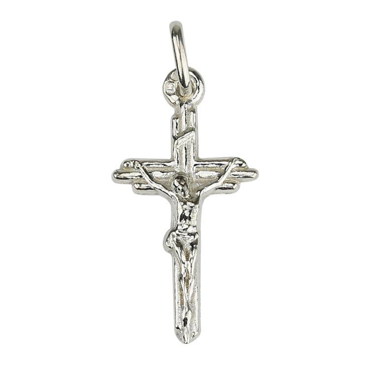 Medalha cruz trabalhada - Prata 925