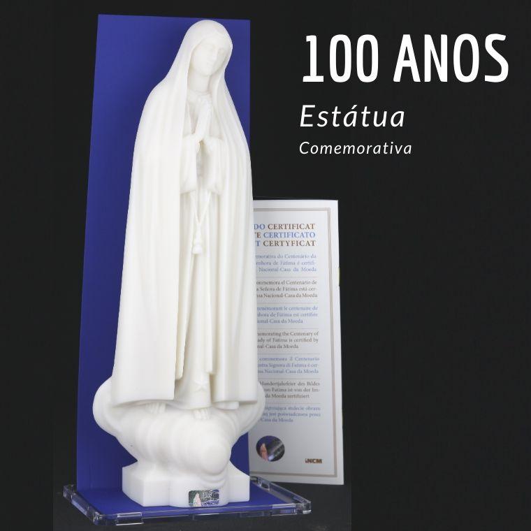 Estátua comemorativa dos 100 anos da Imagem de Fátima