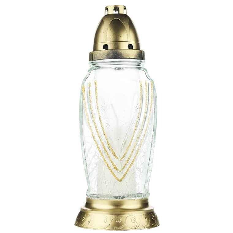 Candeeiro em vidro para velas