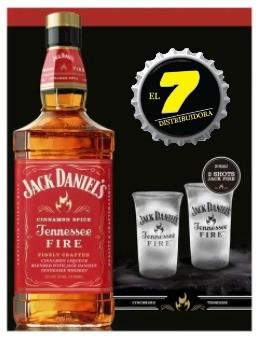 Jack Daniels Fire + Dos Vasos