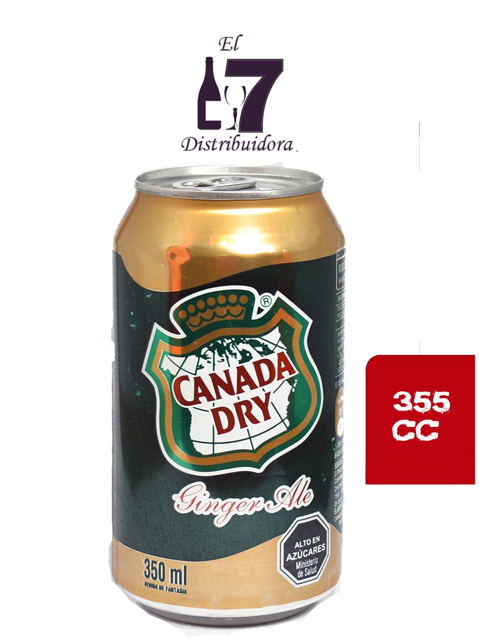 Canada Dry Lata 355 CC Display 24 Unidades