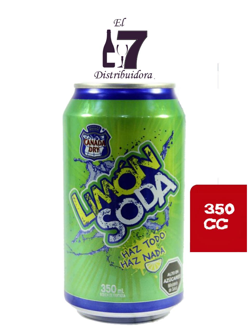 Limon Soda Lata 350 CC Display 24 Unidades