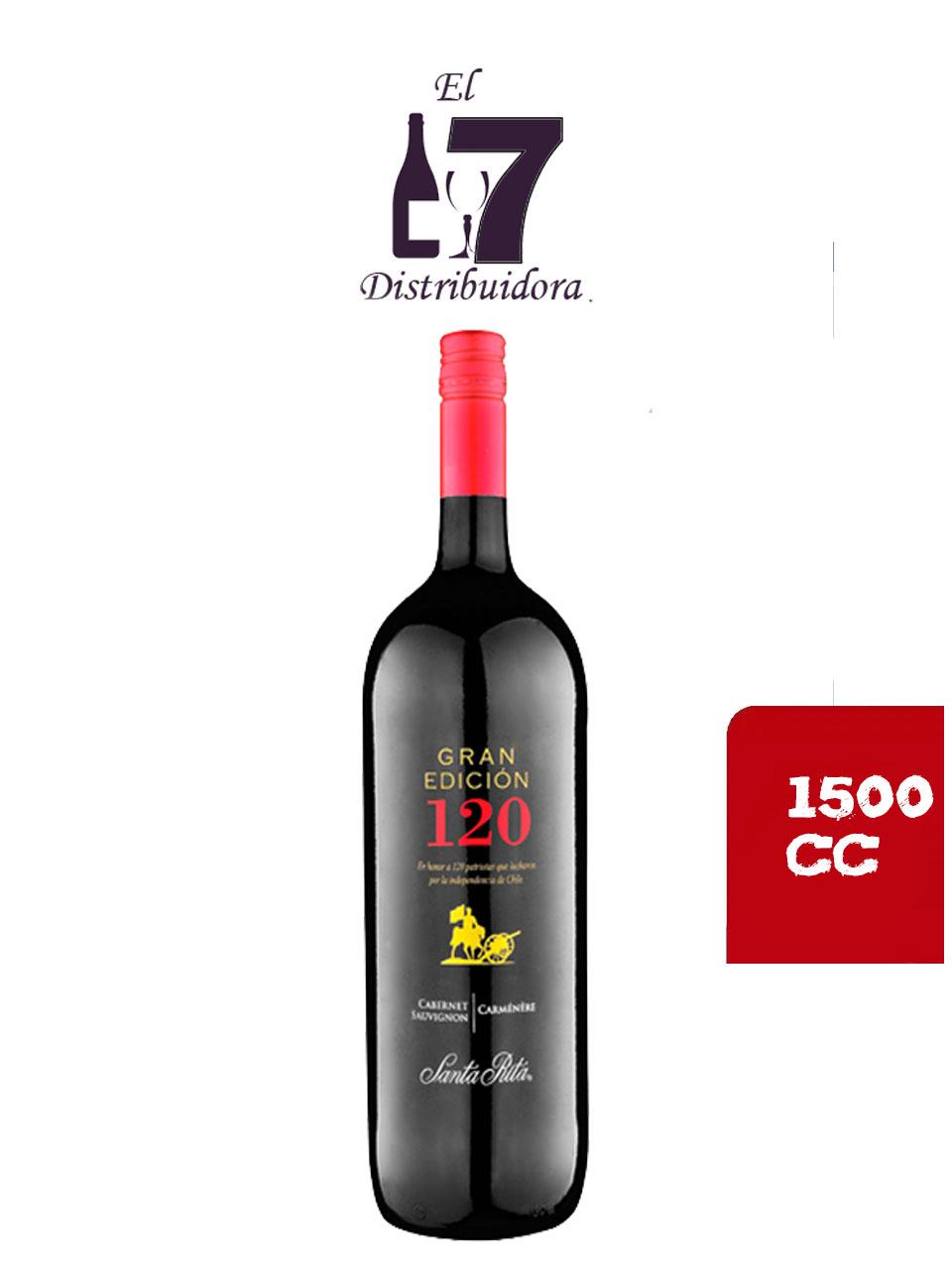 120 Gran Edición Cabernet Sauvignon Carménére Botellon 1500 CC x 6 unidades