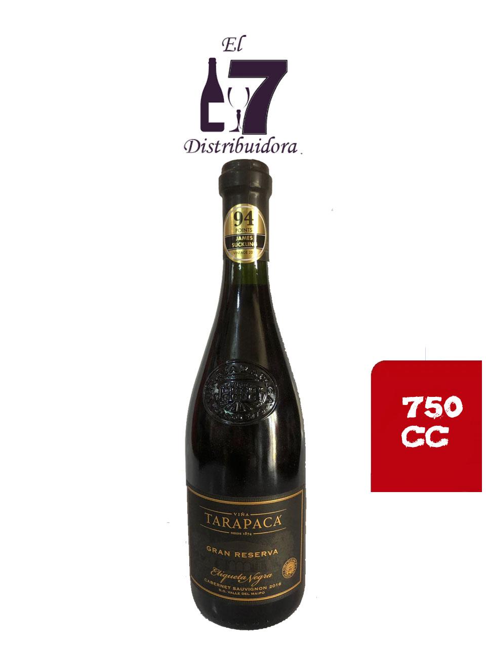 Tarapaca Gran Reserva Etiqueta Negra Cabernet Sauvignon 750 CC